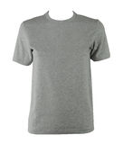 T-shirt cinzento Fotografia de Stock Royalty Free