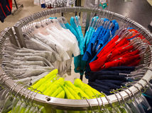 T-shirt in clothing store Stock Photography