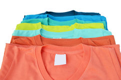 T-shirt coloré Photographie stock libre de droits