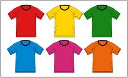 T-shirt 01 colorés raglans, vecteur Images stock