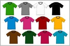 T-shirt 04 colorés raglans, vecteur Photo stock