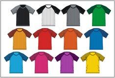 T-shirt 06 colorés raglans, vecteur Images stock