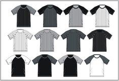 T-shirt 06 colorés raglans, vecteur Illustration de Vecteur