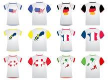 T-shirt com bandeiras Imagem de Stock