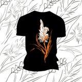T-shirt com cópia da flor Imagens de Stock Royalty Free