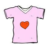 T-shirt comique de bande dessinée avec le coeur d'amour Photographie stock