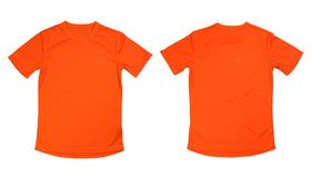 T-shirt courant orange sur le fond blanc, runn orange d'isolement Photo libre de droits