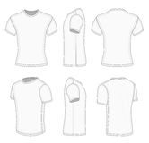 T-shirt court blanc de la douille de chacun des six hommes de vues Images libres de droits