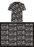 01 T-shirt d'impression d'écran des Etats-Unis de drapeau de typographie, Illustration de Vecteur