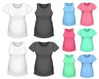 T-shirt da luva e tanque curtos de maternidade da parte superior Fotos de Stock