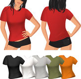 T-shirt da mulher Imagens de Stock Royalty Free