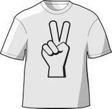 T-shirt da paz Ilustração Royalty Free