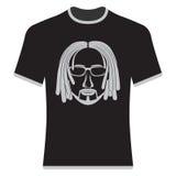 T-shirt das cópias com a imagem dos modernos Fotografia de Stock Royalty Free