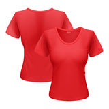 T-shirt de femme Image libre de droits