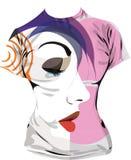 T-shirt de femmes illustration de vecteur