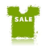 T-shirt de Flotal, venda do verão. ilustração stock