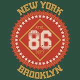 T-shirt de sport de New York Images libres de droits