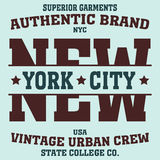 T-shirt de sport de New York Photographie stock