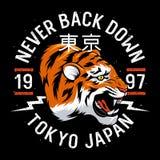 T-shirt 011 de tigre Photographie stock libre de droits