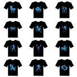T-shirt de zodiaque illustration stock