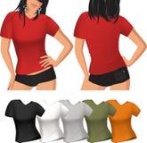 T-Shirt der Frau Lizenzfreie Stockbilder