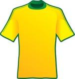 T-Shirt des Fußballs von Brasilien Stockfotos