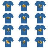 T-Shirt des Tierkreises Stockfotos