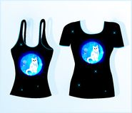 T-shirt design Stock Image