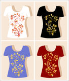 T-shirt design Stock Images