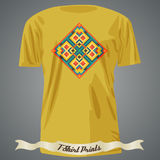 T-shirt design with abstract dotted pattern Royalty Free Stock Image