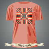 T-shirt design with abstract dotted pattern Stock Images