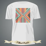 T-shirt design with abstract dotted pattern Stock Photography