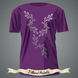 T-shirt design with abstract ornate unusual illustration Stock Image