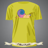 T-shirt design with cartoon of snail Stock Images