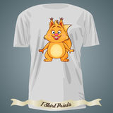 T-shirt design with cartoon of squirrel Stock Images
