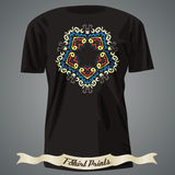 T-shirt design with Exotic abstract Pattern Royalty Free Stock Photos