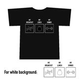 T-shirt design with gym equipment and text Royalty Free Stock Photos