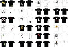 T-shirt design icons Stock Image