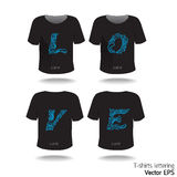 T-shirt design with lettering-word. Stock Photos