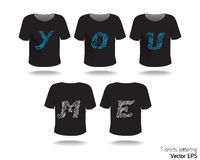 T-shirt design with lettering-word. Stock Photography