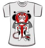 T-Shirt Design mit Fantasiemonster Lizenzfreie Stockbilder