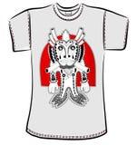 T-Shirt Design mit Fantasiemonster Stockfoto