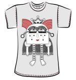 T-Shirt Design mit Fantasiemonster Lizenzfreies Stockbild