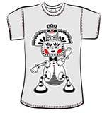 T-Shirt Design mit Fantasiemonster Stockfotografie