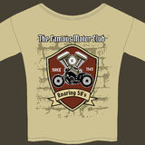 T-shirt design for a Motorcycle workshop Stock Photo