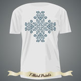 T-shirt design with ornate exotic cross Stock Photo
