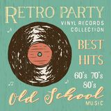 T-shirt design, retro party with vinyl record typography graphics, vector illustration Royalty Free Stock Photo