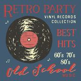 T-shirt design, retro party with vinyl record typography graphics, vector illustration Royalty Free Stock Photos