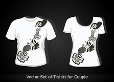 T-shirt design template Royalty Free Stock Photo