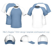 t-shirt design template & baseball c Royalty Free Stock Images